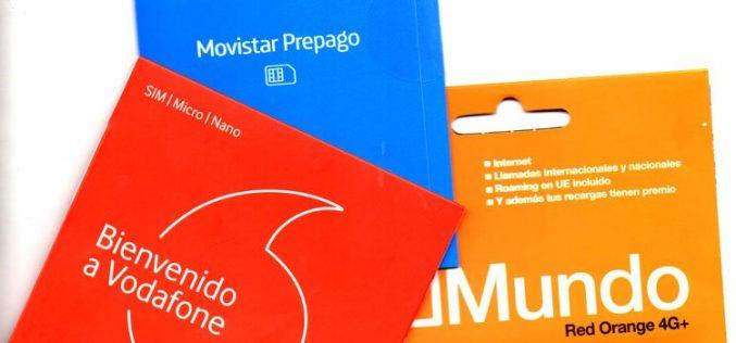 El mundo al revés: las tarifas prepago de Movistar, Orange y Vodafone, las más baratas