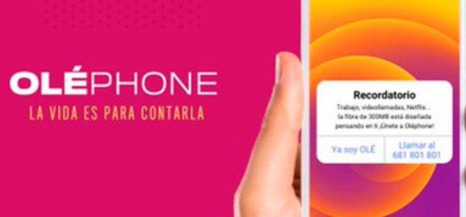 Oléphone mima sus tarifas de fibra y móvil con una mejora de precio