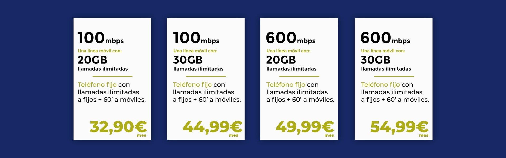 tarifas de fibra y móvil de Mobilfree