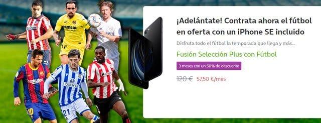 tarifas con fútbol de Movistar Fusión