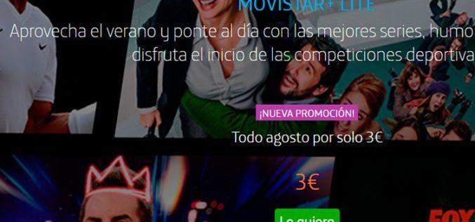 Movistar+ Lite por 3 euros hasta el 31 de agosto