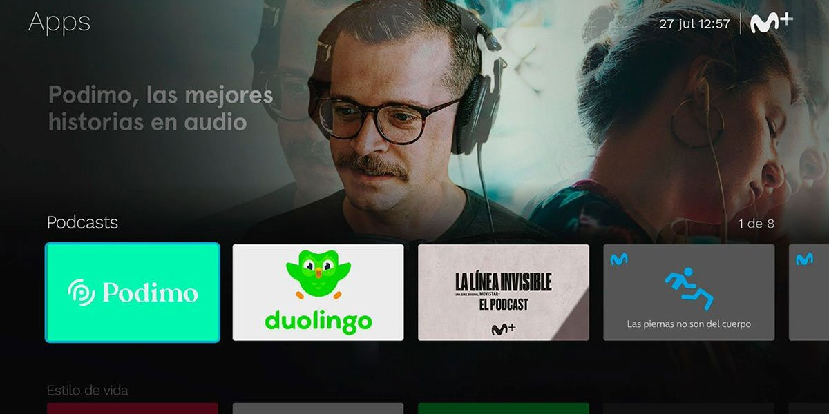 Movistar+ incorpora podcasts y videopodcasts