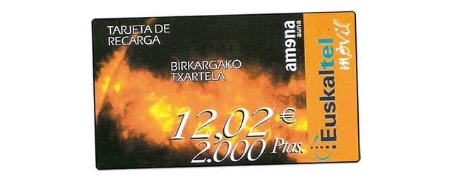 tarjeta de recarga de Euskaltel-Amena