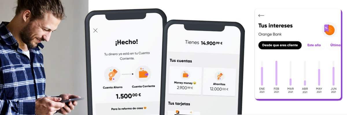 interés de la Cuenta Ahorro de Orange Bank