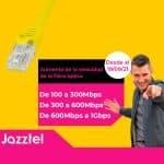 El aumento de velocidad de la fibra óptica de Jazztel