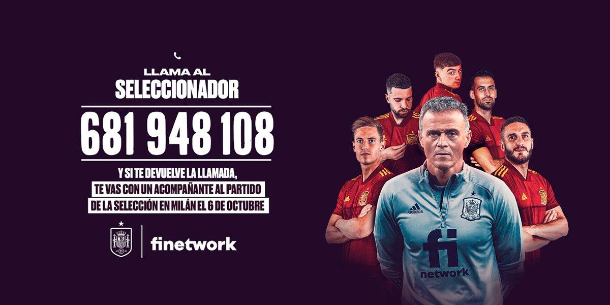 sorteo Finetwork selección española
