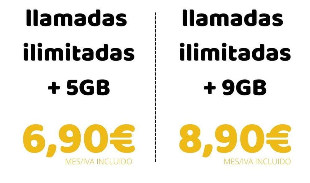 tarifas móviles de Dígame! en septiembre de 2021