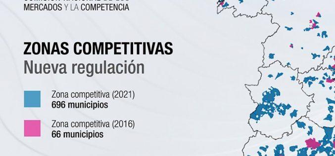 Telefónica respira: Competencia amplía la zona competitiva de fibra de 66 a 696 municipios